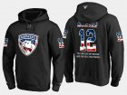 Cheap Panthers #12 Ian Mccoshen NHL Banner Wave Usa Flag Black Hoodie