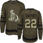 Cheap Adidas Senators #22 Nikita Zaitsev Green Salute to Service Stitched NHL Jersey