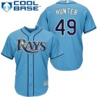 Cheap Rays #49 Tommy Hunter Light Blue Cool Base Stitched Youth MLB Jersey