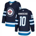 Cheap Adidas Jets #10 Dale Hawerchuk Navy Blue Home Authentic Stitched NHL Jersey