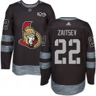 Cheap Adidas Senators #22 Nikita Zaitsev Black 1917-2017 100th Anniversary Stitched NHL Jersey