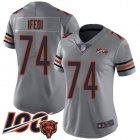 Cheap Nike Bears #74 Germain Ifedi Silver Women's Stitched NFL Limited Inverted Legend 100th Season Jersey