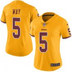 Cheap Nike Redskins #5 Tress Way Gold Women's Stitched NFL Limited Rush Jersey