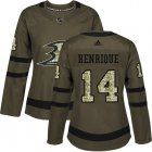 Cheap Adidas Ducks #14 Adam Henrique Green Salute to Service Women's Stitched NHL Jersey