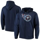 Cheap Tennessee Titans G-III Sports by Carl Banks Primary Logo Full-Zip Hoodie Navy
