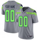 Cheap Nike Seattle Seahawks Customized Gray Men's Stitched NFL Limited Inverted Legend Jersey