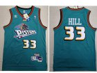 Cheap Detroit Pistons 33 Grant Hill Swingman Green Throwback Adidas Jersey
