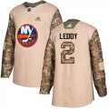 Cheap Adidas Islanders #2 Nick Leddy Camo Authentic 2017 Veterans Day Stitched NHL Jersey