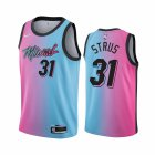 Cheap Nike Heat #31 Max Strus Blue Pink NBA Swingman 2020-21 City Edition Jersey