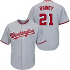 Cheap Nationals #21 Tanner Rainey Grey New Cool Base Stitched MLB Jersey