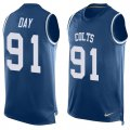 Cheap Nike Colts #91 Sheldon Day Royal Blue Team Color Men's Stitched NFL Limited Tank Top Jersey