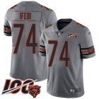 Cheap Nike Bears #74 Germain Ifedi Silver Youth Stitched NFL Limited Inverted Legend 100th Season Jersey