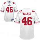 Cheap 49ers #46 Delanie Walker White Stitched NFL Jersey
