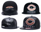 Cheap NFL Chicago Bears Team Logo Black Adjustable Hat A66