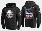 Cheap Sabres #55 Rasmus Ristolainen NHL Banner Wave Usa Flag Black Hoodie