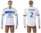 Cheap Lyon #2 Zeffane Home Long Sleeves Soccer Club Jersey