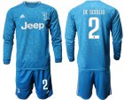 Cheap Juventus #2 De Sciglio Third Long Sleeves Soccer Club Jersey