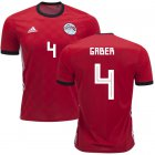 Cheap Egypt #4 Gaber Red Home Soccer Country Jersey