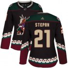 Cheap Adidas Coyotes #21 Derek Stepan Black Alternate Authentic Women's Stitched NHL Jersey