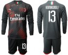 Cheap AC Milan #13 Romagnoli Third Long Sleeves Soccer Club Jersey