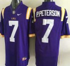 Cheap LSU Tigers #7 Patrick Peterson Purple 2015 College Football Nike Limited Jersey