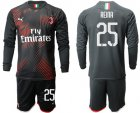 Cheap AC Milan #25 Reina Third Long Sleeves Soccer Club Jersey