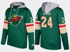 Cheap Wild #24 Matt Dumba Green Name And Number Hoodie