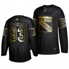 Cheap Adidas Rangers #93 Mika Zibanejad Men's 2019 Black Golden Edition Authentic Stitched NHL Jersey