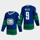 Cheap Vancouver Canucks #9 JT Miller Men's Adidas 2020-21 Authentic Player Alternate Stitched NHL Jersey Blue
