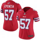 Cheap Nike Bills #57 A.J. Epenesas Red Women's Stitched NFL Limited Rush Jersey