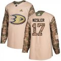 Cheap Adidas Ducks #17 Ryan Kesler Camo Authentic 2017 Veterans Day Youth Stitched NHL Jersey