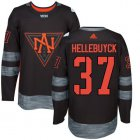 Cheap Team North America #37 Connor Hellebuyck Black 2016 World Cup Stitched NHL Jersey