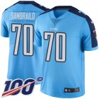 Cheap Nike Titans #70 Ty Sambrailo Light Blue Youth Stitched NFL Limited Rush 100th Season Jersey