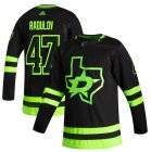 Cheap Dallas Stars #47 Alexander Radulov Black Men's Adidas 2020-21 Reverse Retro Alternate NHL Jersey