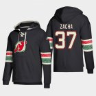 Cheap New Jersey Devils #37 Pavel Zacha Black adidas Lace-Up Pullover Hoodie