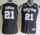 Cheap San Antonio Spurs #21 Tim Duncan Black Kids Jersey