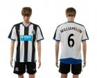 Cheap Newcastle #6 Williamson Home Soccer Club Jersey