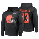 Cheap Cleveland Browns #13 Odell Beckham Jr. Nike NFL 100 Primary Logo Circuit Name & Number Pullover Hoodie Anthracite