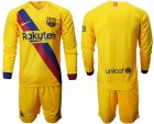 Cheap Barcelona Blank Away Long Sleeves Soccer Club Jersey