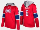 Cheap Canadiens #6 Shea Weber Red Name And Number Hoodie
