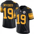 Cheap Nike Steelers #19 JuJu Smith-Schuster Black Youth Stitched NFL Limited Rush Jersey
