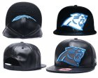 Cheap NFL Carolina Panthers Fresh Logo Black Reflective Adjustable Hat G105