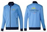 Cheap NFL Los Angeles Chargers Victory Jacket Light Blue