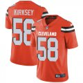 Cheap Nike Browns #58 Christian Kirksey Orange Alternate Men's Stitched NFL Vapor Untouchable Limited Jersey