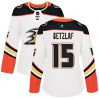 Cheap Adidas Ducks #15 Ryan Getzlaf White Road Authentic Women's Stitched NHL Jersey