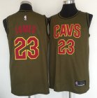 Cheap Cleveland Cavaliers #23 Lebron James Olive Nike Swingman Jersey