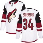 Cheap Adidas Coyotes #34 Carl Soderberg White Road Authentic Stitched NHL Jersey