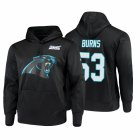 Cheap Carolina Panthers #53 Brian Burns Nike NFL 100 Primary Logo Circuit Name & Number Pullover Hoodie Black