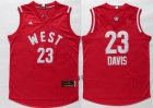 Cheap 2015-16 NBA Western All-Stars Men's #23 Anthony Davis Revolution 30 Swingman Red Jersey