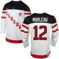 Cheap Olympic CA. #12 Patrick Marleau White 100th Anniversary Stitched NHL Jersey
